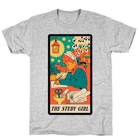 The Study Girl Tarot Card T-Shirt