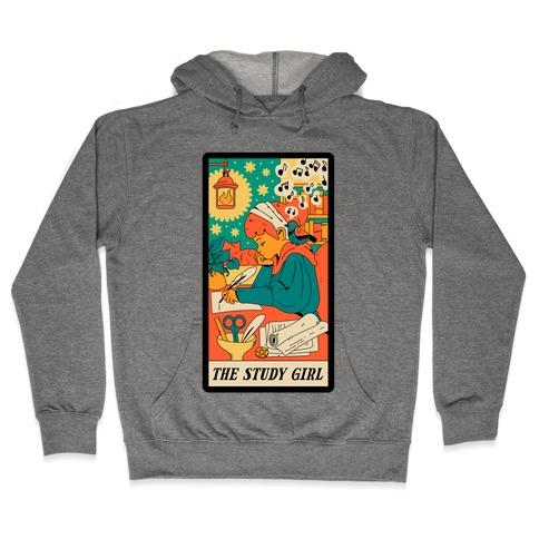 The Study Girl Tarot Card Hooded Sweatshirt