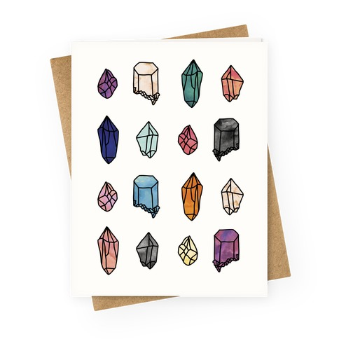 Watercolor Crystal Pattern Greeting Card