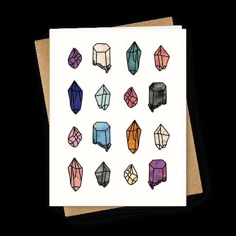 Watercolor Crystal Pattern Greeting Card