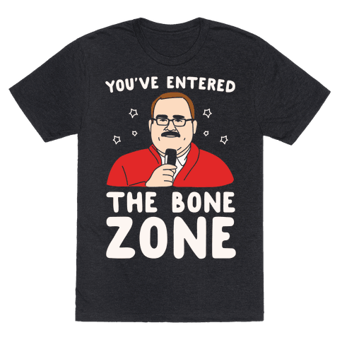 You've Entered The Bone Zone White Print