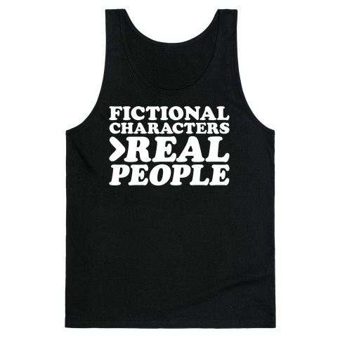 Fictional Characters > Real People White Print Tank Top