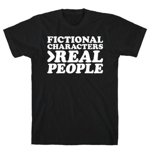 Fictional Characters > Real People White Print T-Shirt