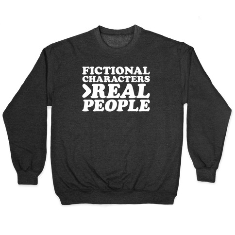 Fictional Characters > Real People White Print Pullover