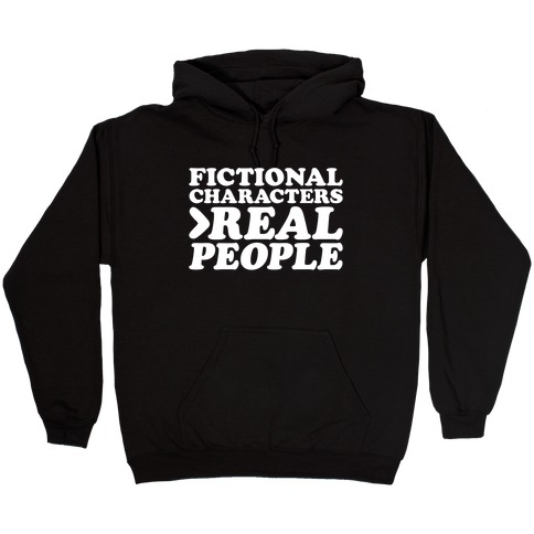 Fictional Characters > Real People White Print Hooded Sweatshirt