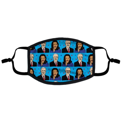 Biden Harris 2020 Pattern Flat Face Mask