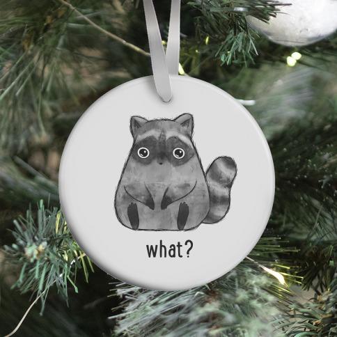 Sassy Cute Raccoon Ornament