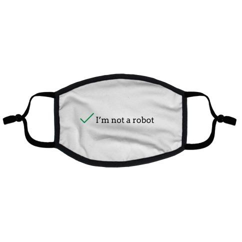 I'm Not a Robot reCaptcha Flat Face Mask