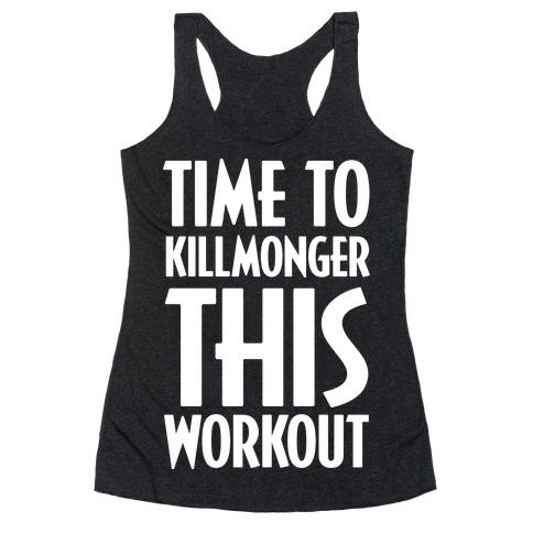 Time To Killmonger This Workout Racerback Tank Top