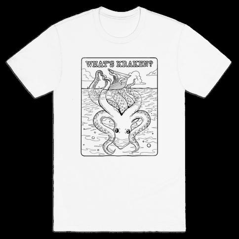 What's Kraken (Litho Style) Mens/Unisex T-Shirt
