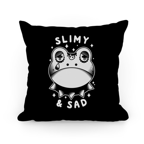 Slimy & Sad Frog Pillow