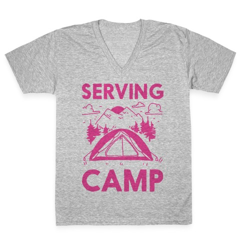 Serving CAMP V-Neck Tee Shirt