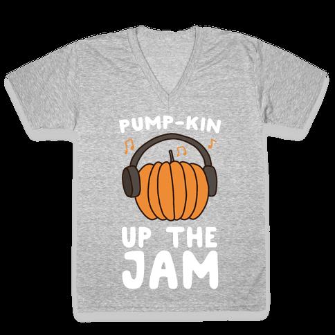 Pump-kin Up the Jam V-Neck Tee Shirt