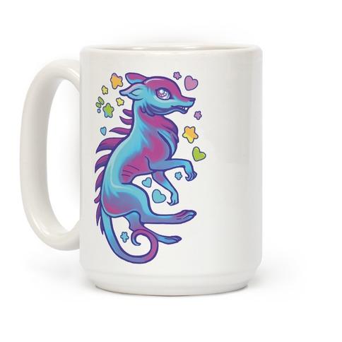 Neon Rainbow Chupacabre Coffee Mug