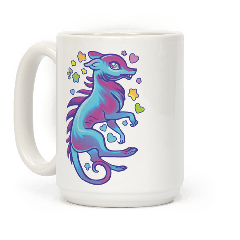 Neon Rainbow Chupacabre Coffee Mug