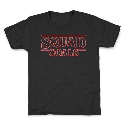 Stranger Squad Goals Parody (Red) Kids T-Shirt