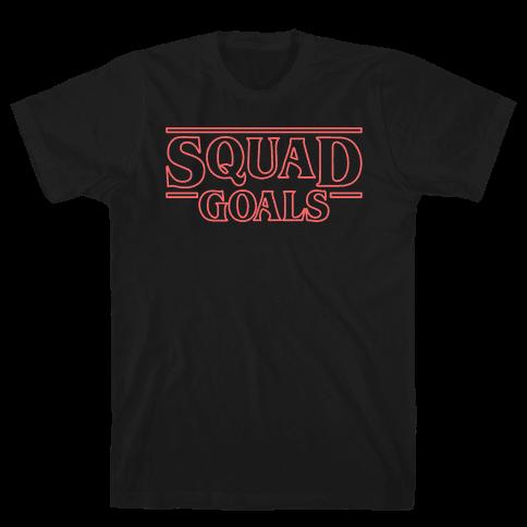 Stranger Squad Goals Parody (Red) Mens T-Shirt