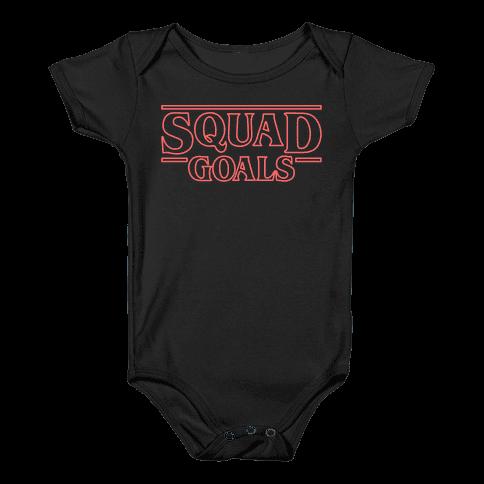 Stranger Squad Goals Parody (Red) Baby Onesy