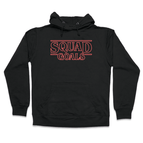 Stranger Squad Goals Parody (Red) Hooded Sweatshirt