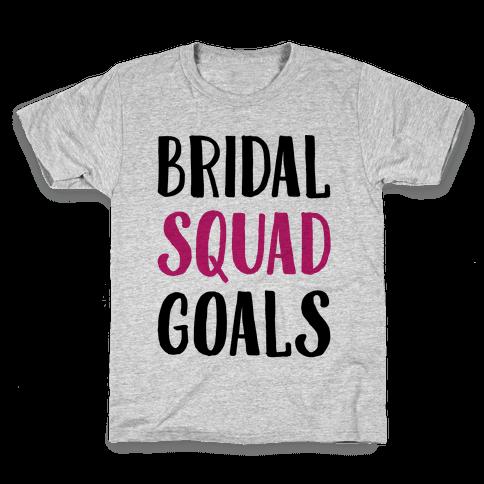 Bridal Squad Goals Kids T-Shirt