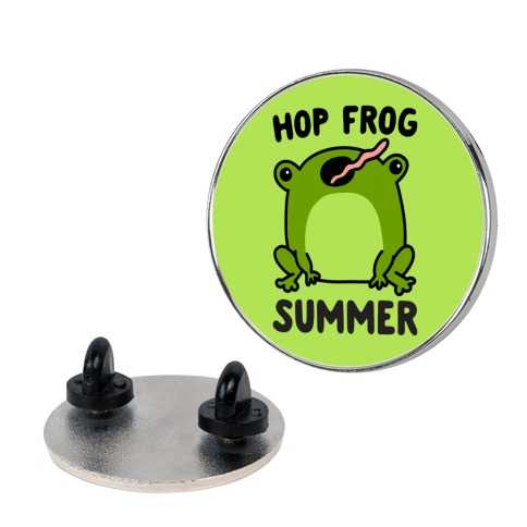 Hop Frog Summer Pin