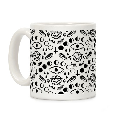 Occult Pixel Pattern Coffee Mug