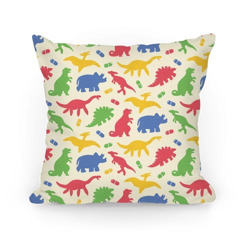 Dinosaur Capsules Pattern Pillow