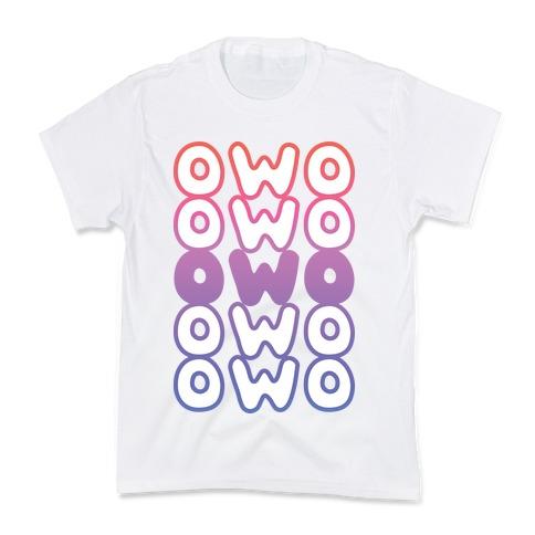 OWO Anime Emoticon Face Kids T-Shirt