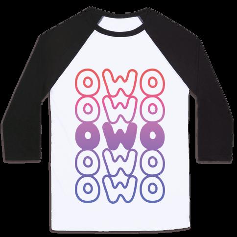 OWO Anime Emoticon Face Baseball Tee