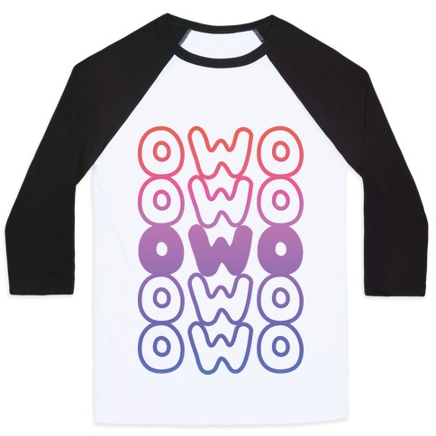 OWO Anime Emoticon Face Baseball Tee