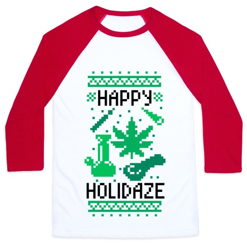 Happy Holidaze Baseball Tee
