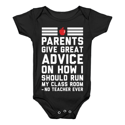 Parents Give Great Advice Baby Onesy