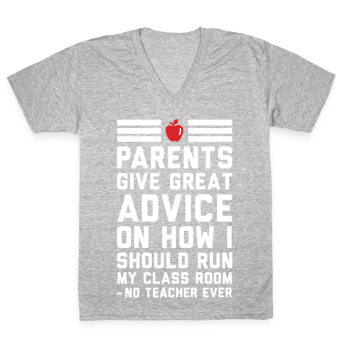 Parents Give Great Advice V-Neck Tee Shirt