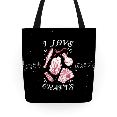 I Love (Witch) Crafts Tote