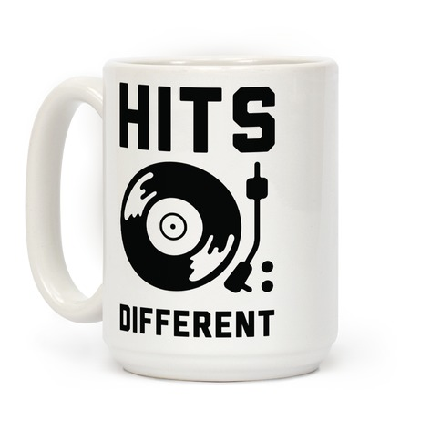 Hits Different Vinyl Record Coffee Mug