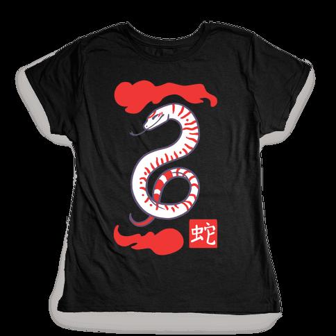 Snake - Chinese Zodiac Womens T-Shirt