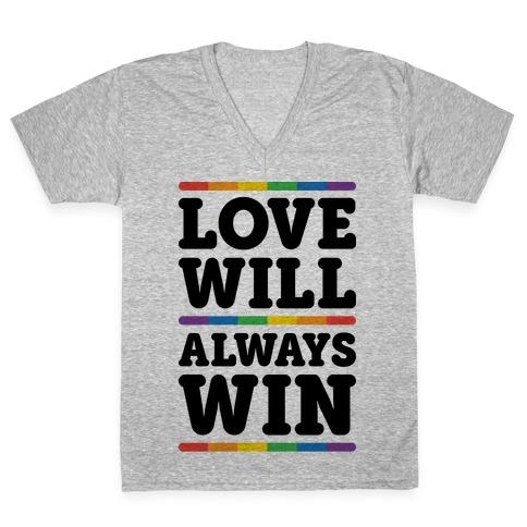 Love Will Always Win V-Neck Tee Shirt