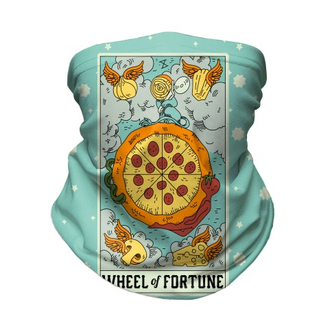 Wheel Of Fortune Pizza Neck Gaiter