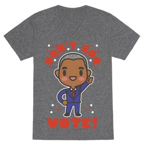 Don't Boo Vote V-Neck Tee Shirt