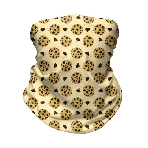 Chocolate Chip Cookies Pattern Neck Gaiter