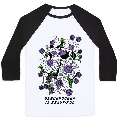 Genderqueer is Beautiful Baseball Tee