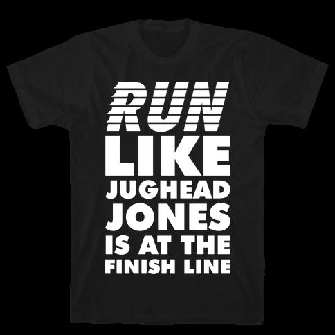 Run Like Jughead is at the Finish Line Mens T-Shirt