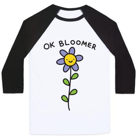 Ok Bloomer Flower Baseball Tee