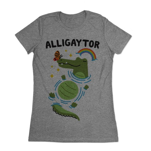 Alligaytor (Gay Alligator) Womens T-Shirt