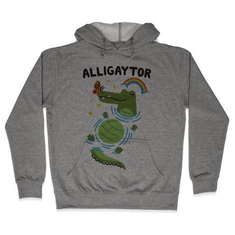 Alligaytor (Gay Alligator) Hooded Sweatshirt