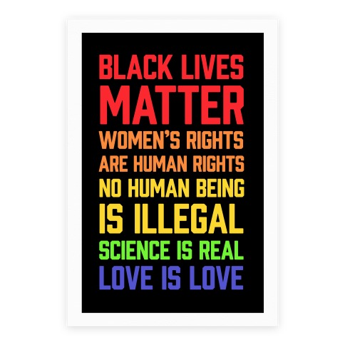 Black Lives Matter List Poster