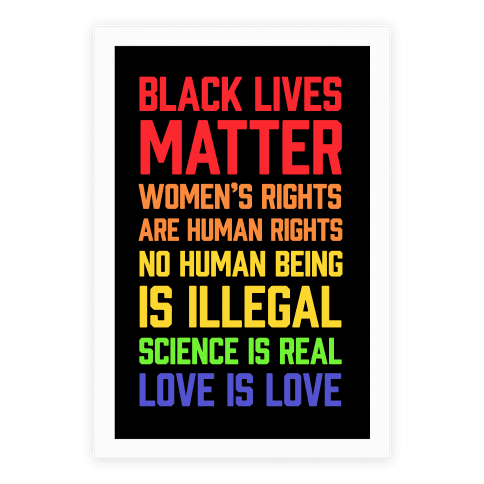 Black Lives Matter List Poster