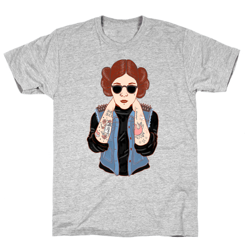 Punk Leia Parody Mens T-Shirt