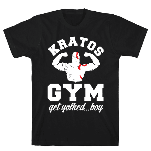 Kratos Gym Get Yolked Boy Mens T-Shirt