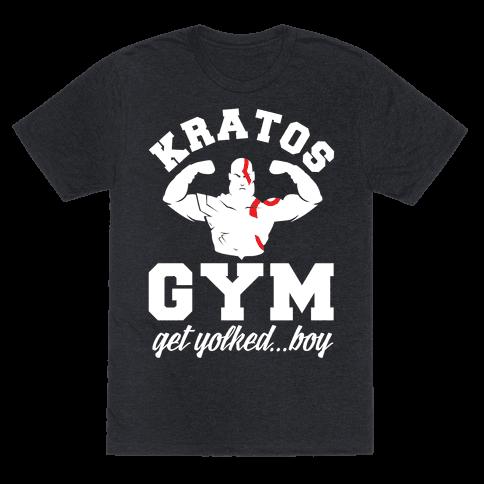 Kratos Gym Get Yolked Boy Mens T-Shirt
